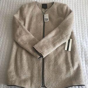 Fuzzy, trimmed, light jacket
